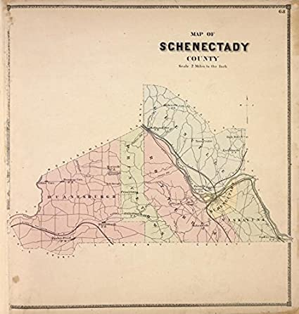 Amazoncom Historic 1866 Map Map of Schenectady County Atlases