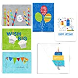 Celebrate! Birthday Card Assortment Pack - Set of 36 cards - 6 of each design, blank inside with white envelopes