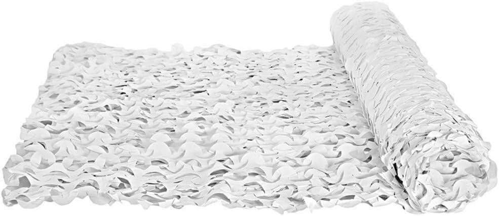 迷彩ネット迷彩ネットウッドランドオックスフォード生地軽量用隠す寝室のプライバシー装飾、複数サイズ中庭uv耐性シェードカーカバー ZHAOFENGMING (Color : 白い, Size : 5×7M) 白い 5×7M