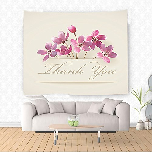 Nalahome ssoms Decor Collection Spring Flowers and Floral Thank You Gifts for Anniversary Teachers Design Accessor Ethnic Decorative Tapestry Blanket Wall Art Design Handicrafts 59W x 51.1L Inches