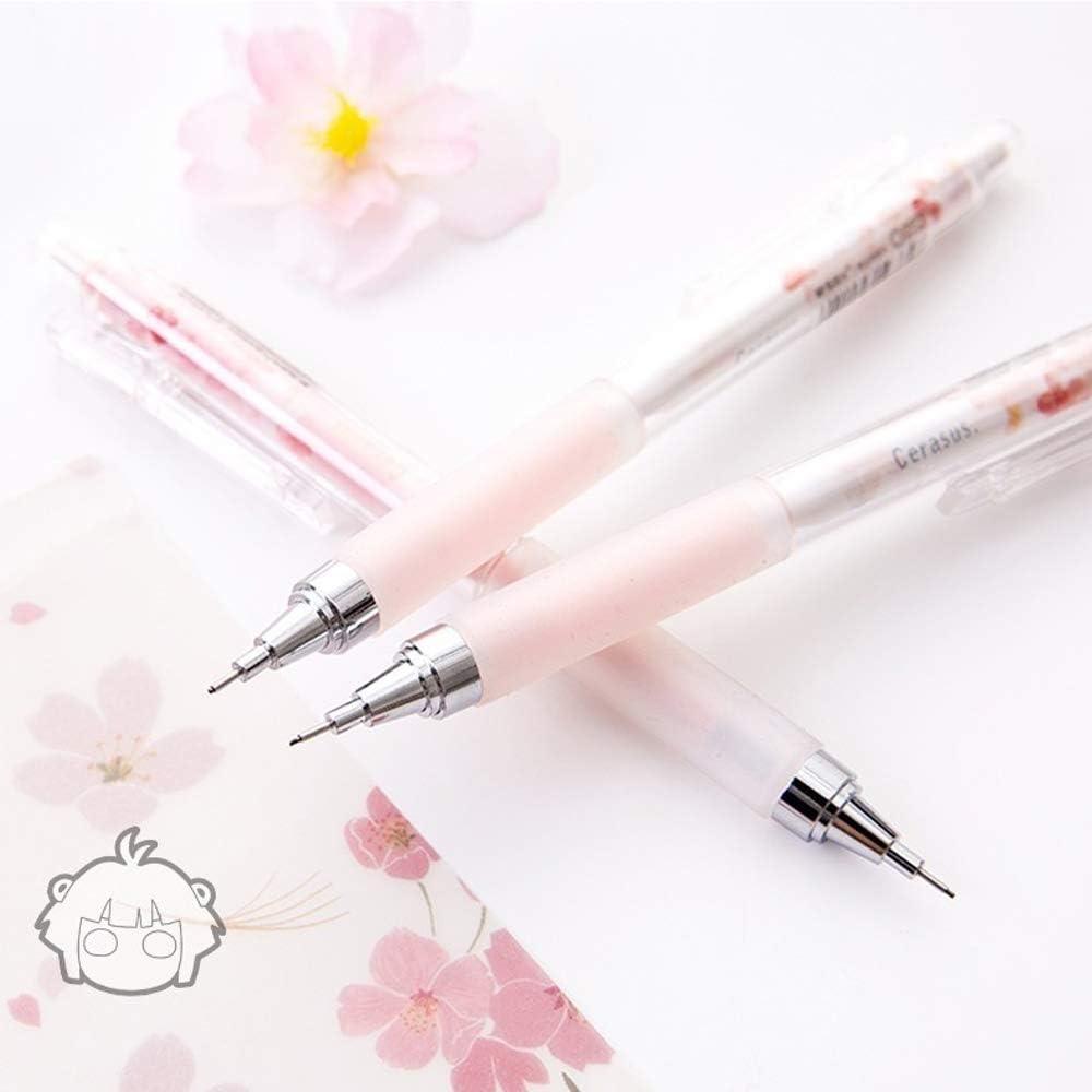 Iaywayii 0.5mm Kirschbl/üten Automatische Bleistift Kawaii Plastikdruckbleistifte f/ür Kinder Studentenbedarf Schreibwaren