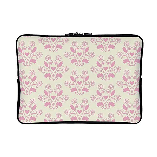 - DKISEE Pink Toile Floral Neoprene Laptop Sleeve Case Waterproof Sleeve Case Cover Bag for MacBook/Notebook/Ultrabook/Chromebooks
