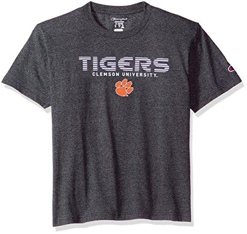 Champion NCAA Youth Boy's Granite Short Sleeve Jersey Shirt Clemson Tigers Small