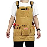 SAVWAY Tool Apron with Pockets Work Apron for