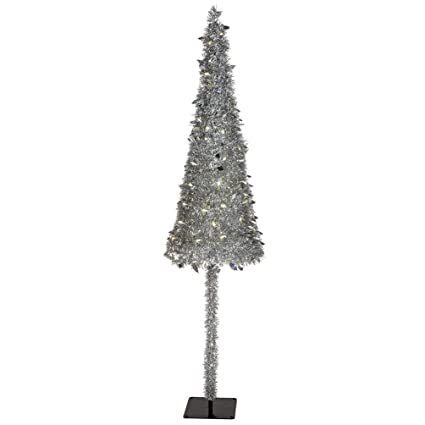 Foil Christmas Tree.Amazon Com 7 Hx20 W Tinsel Foil Holly Leaves Pop Up Led