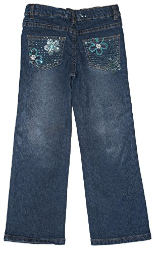 AriZona Girls Very Cute Skinny Stretch Boot Cut Denim Jeans in Regular Sizes with Nice Embroidered in Back and Front Pockets 6 Reg by AriZona (Image #1)