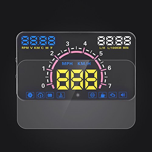 VGEBY Universal 5.8'' Car HUD Head Up Display With OBD2 EUOBD Interface Speeding Warning by VGEBY (Image #8)