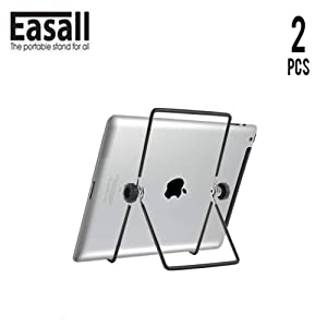 2 pcs Easel Wire Display Stand for Kindle Tablet iPad Albums, Picture Frame Holder for Photo Portraits, Plate Holders Book Display for Paperback Books Art Collection with Easily Change Viewing Angle