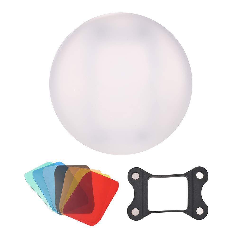 Docooler Silicone Diffuser Ball Magnet Adsorption Soft Balls for Canon Nikon Sigma Yongnuo Godox Andoer Neewer Vivitar Speedlight by Docooler