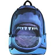 Printed Kids School Backpack Cool Children Bookbag Shark