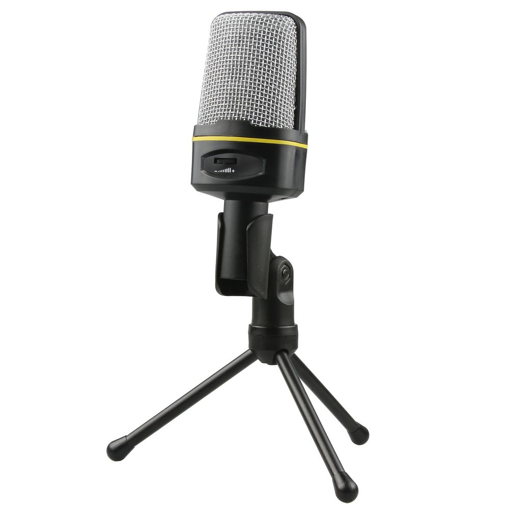 Fotga Condenser Sound Studio Recording Microphone Mic with Stand for PC Laptop Gaming Skype MSN ZX032