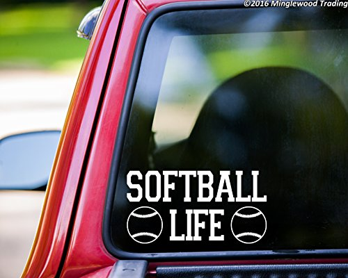 SOFTBALL LIFE Vinyl Decal Sticker 11