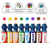 WASHABLE | Dab and Dot Markers | 8 Colors Pack Set | Includes 200+ Fun Downloadable Coloring Sheets | Fun Art Supplies for kids and preschoolers| Preschool Arts and Craft