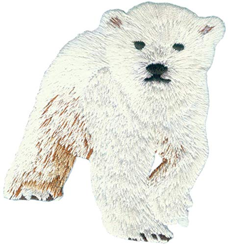 - Application Polar Bear Cub Embroidered Patch 3 x 3.5 x 0 inches Logo Sew Ironed On Badge Embroidery Applique Patch.