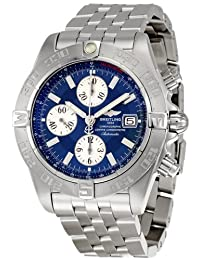 Breitling Galactic Chronograph Blue Dial Stainless Steel Mens Watch A1336410-C645SS