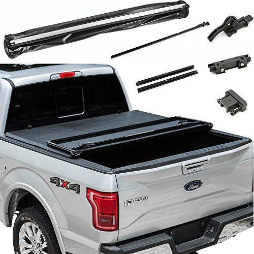 11 Nissan Frontier 5 FT Short Bed Assemble Tri-Fold Tonneau Cover Tear-Resistant Vinyl (Tech Tri Fold)