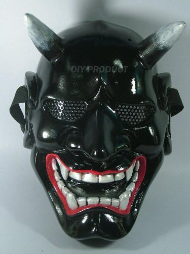Black Kabuki Warrior Airsoft Mask and Prop Mask by LOTUS SIAM