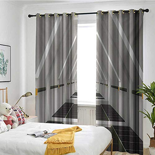 - Blackout Lined Curtains Sun Visor in Bedroom Living Room Outer Space,Surreal Scene of Spaceflight New Horizons Theme Science Fiction Photo,Army Green Pale Grey