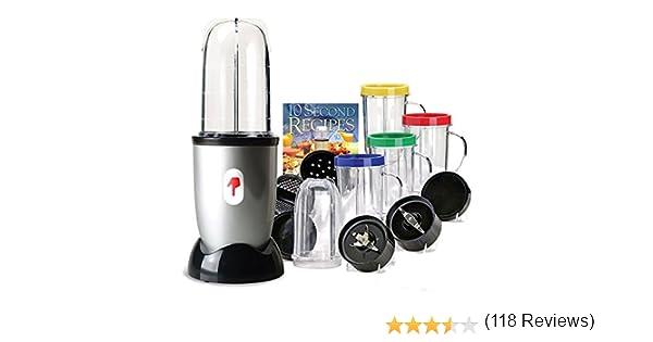 Appetitissime One Touch Bullet Batidora de vaso con accesorios, 250 W, Vidrio, Cromado: Amazon.es: Hogar