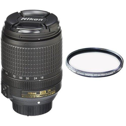 Nikon AF-S DX NIKKOR 18-140mm f/3.5-5.6G ED Vibration Reduction Zoom Lens with Auto Focus for Nikon DSLR Cameras with Tiffen 67mm Protection Filter