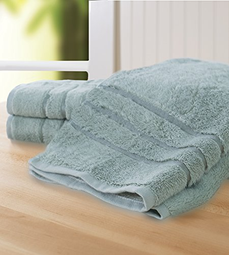 Cariloha Bamboo Hand Towel Set by Odor Resistant (Tahitian Breeze)