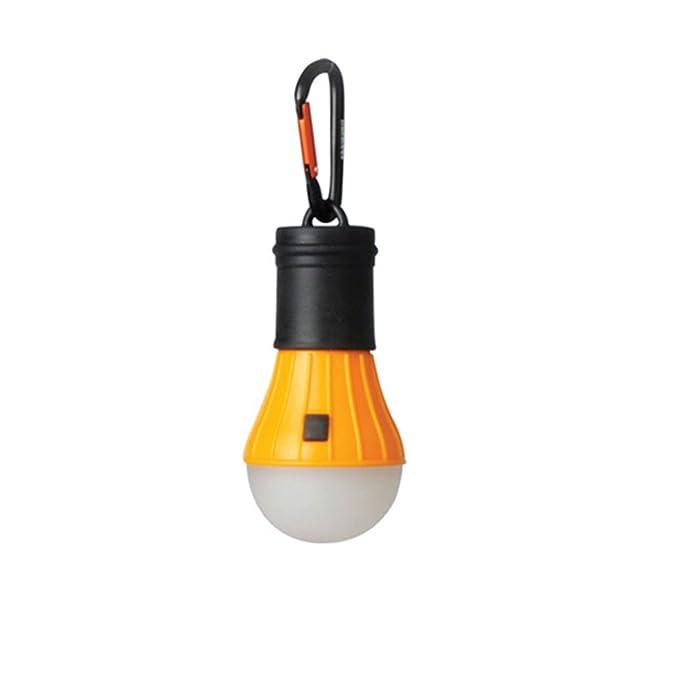 AceCamp LED Camping Proyección, Tienda Incluye Pilas y Mosquetón, luz de Emergencia, Resistente al Agua, 40 Lúmenes, 4 Modos, DIMM Bar, 12er Pack Orange: ...