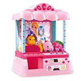 Electronic Claw Toy Grabber Machine Home Arcade Carnival Crane Game Features Lights, Animation and Sounds for Kids 6 Year Old with Dolls and Play Coins