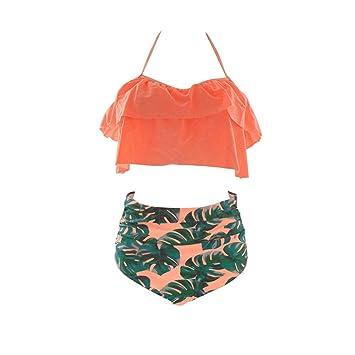 YKCOOL Traje de baño Cintura Alta Tallas Grandes Bikini ...