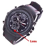 M MHB Spy Wrist Watch Camera Inbuild 4GB Memory Hidden Audio/Video Recording/ Recording No Light Flashes.