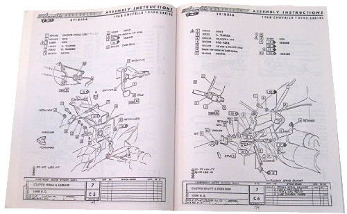1966 chevelle el camino assembly manual chevy chevrolet with decal rh amazon com 1967 chevelle assembly manual pdf 1969 chevelle assembly manual pdf