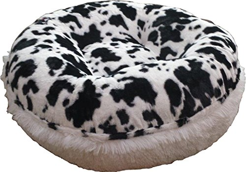 Spotted Pony (BESSIE AND BARNIE 36-Inch Bagel Bed for Pets, Medium, Snow White/Spotted Pony)