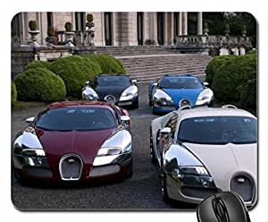 Four Bugatti Veyron's Mouse Pad, Mousepad by icecream design