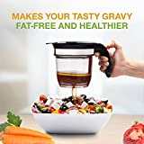 Best 4 Cups Gravy Separator and Fat Separator (32 Ounces) Makes Healthier Gravy, Soup Or Sauce Grease-Free, 1 Liter Measuring Capacity Cup and Strainer Filter, Heat Resistance By Vondior