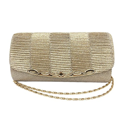 Shiny Party Bridal Chain Women Handbags With Wedding Luxury Clutch Gold Glitter Evening Bag Bag Women Ladies rrPq7AW18