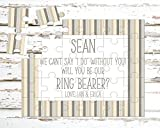 Personalized Ring Bearer Puzzle - Puzzle Proposal - Asking Ring Bearer - Wedding Announcement - P1194