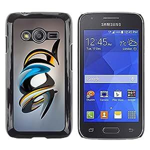 TopCaseStore / la caja del caucho duro de la cubierta de protección de la piel - Shiny Abstract Art - Samsung Galaxy Ace 4 G313 SM-G313F