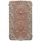 Whitehall Products Acanthus Combo Clock, Copper Verdi