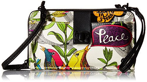 Sakroots Artist Circle Large Smartphone Cross-Body Phone Wallet,Optic Peace