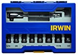IRWIN Tools Impact Performance Series Deep Well Socket Bits, 3/8-Inch Square Drive, 10-Piece Set, Rail (1882412)