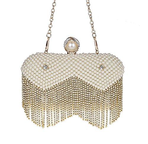 à fériés Bal 7x5inch Diamants Sacs de de Jours Mini 17x13cm d'autres A Gland de Et Perles Main soirée soirée Sac Pochette Incrusté A Parti 6FBnEqax
