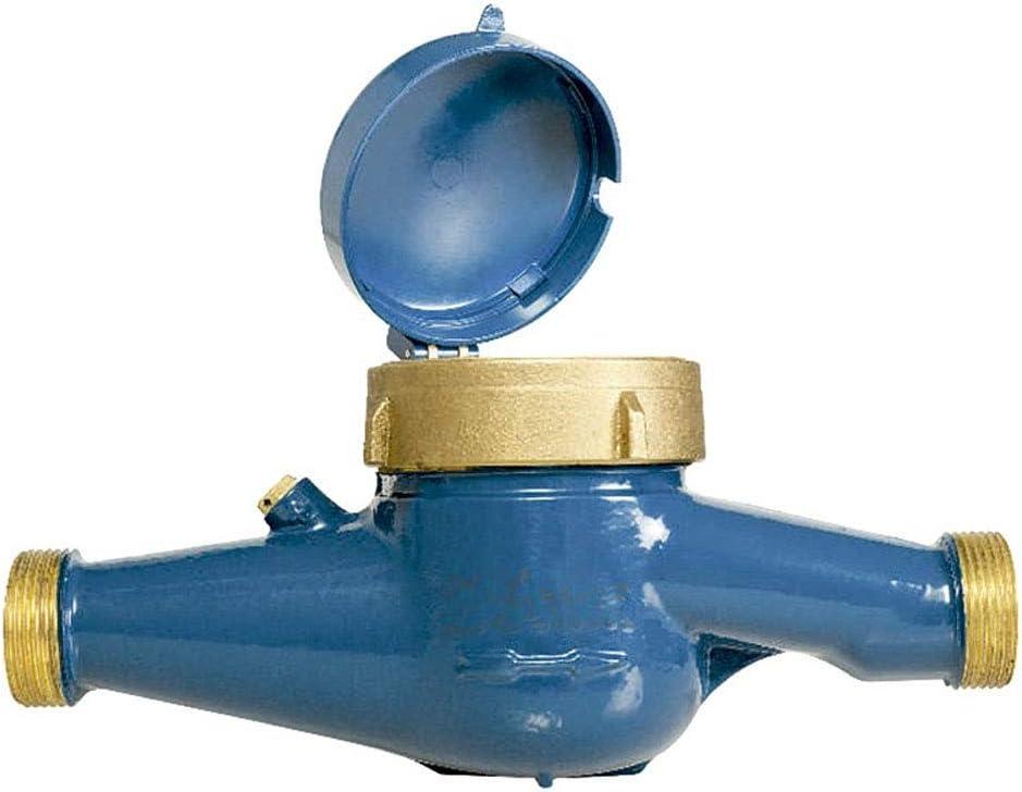 Contador de agua 20mm de chorro /único esfera seca//Certificado MID Europeo que permite el uso con agua potable//Rosca entrada y salida 1 macho//Caudal m/áximo 5 m3//h