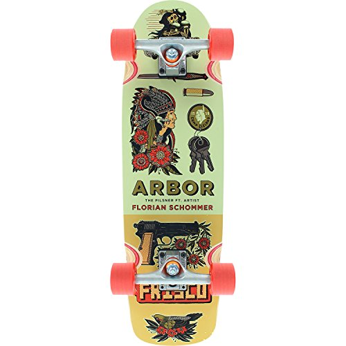 Arbor Skateboards Artist Collection Pilsner Cruiser Complete Skateboard - 8.25