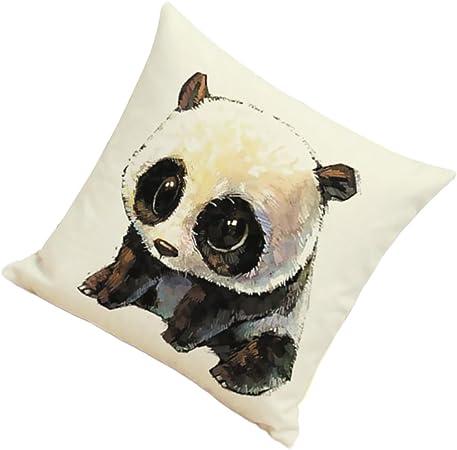 Mignon Panda Bonne Qualité Lin Imprimé Oreiller Housse De Coussin Décor Maison