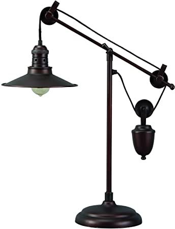 Signature Design By Ashley L734152 Kylen Adjustable Desk Lamp With Metal  Shade With In Line