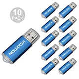 KOOTION 10PCS 1GB USB 2.0 Flash Drive 10 Pack Flash Drive Memory Stick Thumb Storage Pen Disk, Blue