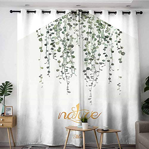 LOVEEO Sliding Door Curtains,Texture for Design. Can be Used as Background,Energy Efficient, Room Darkening,W96x72L Wallpaper (3)