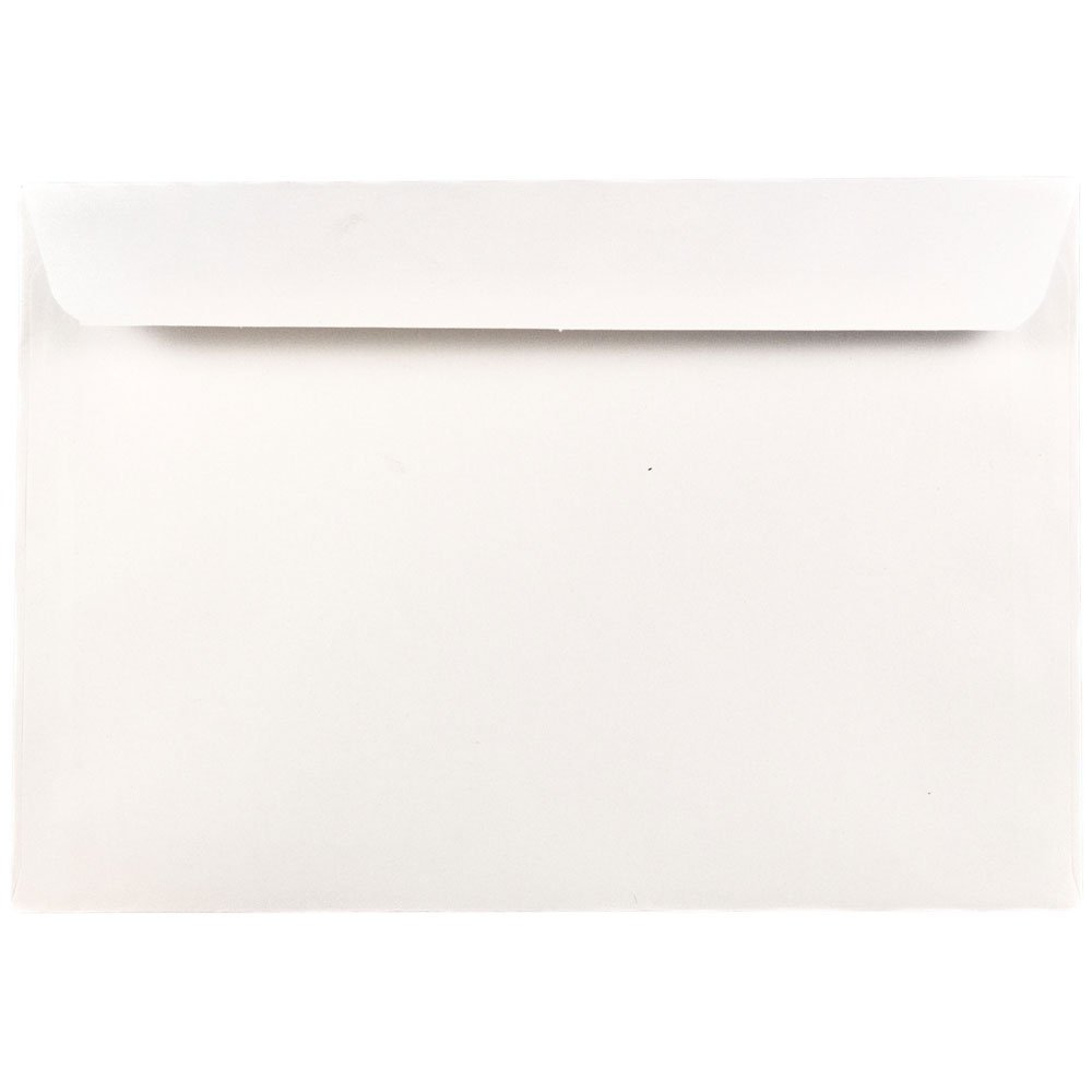 JAM Paper 5 1/2 x 7 1/2 Booklet Envelopes - White - 25/Pack JAM Paper & Envelope 4235