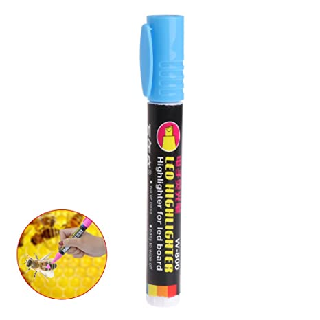 White Jiamins Queen Bee Marking Pen Fluorescent Markers for Coloring Beekeeping Maker Supply Tools