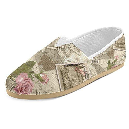 Interestprint Femmes Mocassins Classique Casual Toile Glisser Sur La Mode Chaussures Sneakers Appartements Multi 30