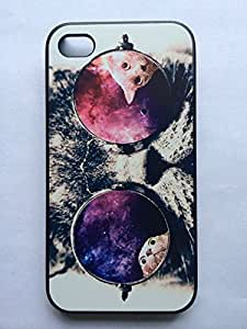NANKY New Popular Funny Galaxy Hipster Cat Case - For Iphone 5 5s 5g - Designer Hard Case Verizon At&t Sprint